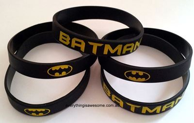 Picture of 5 pcs Batman Superhero Wristbands Bracelets