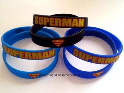 Picture of 5 pcs Superman Wristbands Bracelets