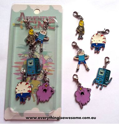 Picture of Adventure Time Metal Bracelet Charms Keychain Set B - Finn