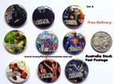 Picture of Superheroes Justice League Design A Button Pins Badges Set of 9 - Party Favours