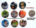 Picture of Superheroes Justice League Design B - Button Pins Badges Set of 9 - Party Favours