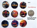 Picture of Superheroes Spiderman Design B Button Pins Badges Set of 9 - Party Favours