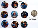 Picture of Superheroes Superman Design A Button Pins Badges Set of 9 - Party Favours