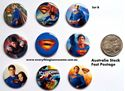 Picture of Superheroes Superman Design B Button Pins Badges Set of 9 - Party Favours