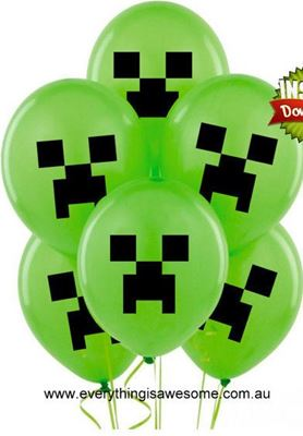 Picture of New 10 pcs Minecraft Creeper Balloons