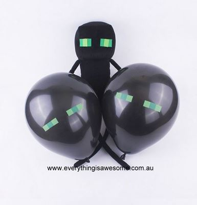 Picture of New 10 pcs Minecraft Enderman Green Eyes Ballons