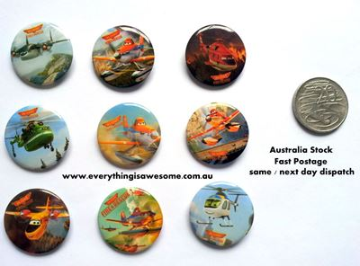 Picture of Disney Planes Button Pins Badges Set of 9 - Party Favours