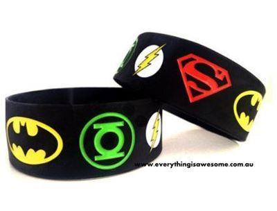 Picture of 5 pcs Justice League Superhero Wristbands Bracelets