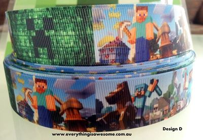 Picture of 1M Minecraft Ribbon Design D