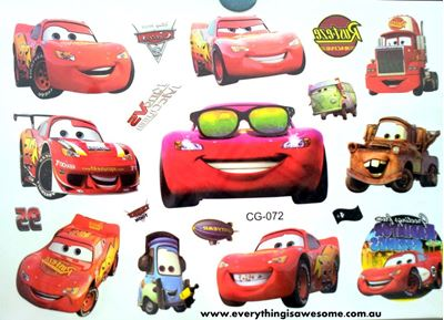 Picture of New Disney Cars Temporary Tattoo