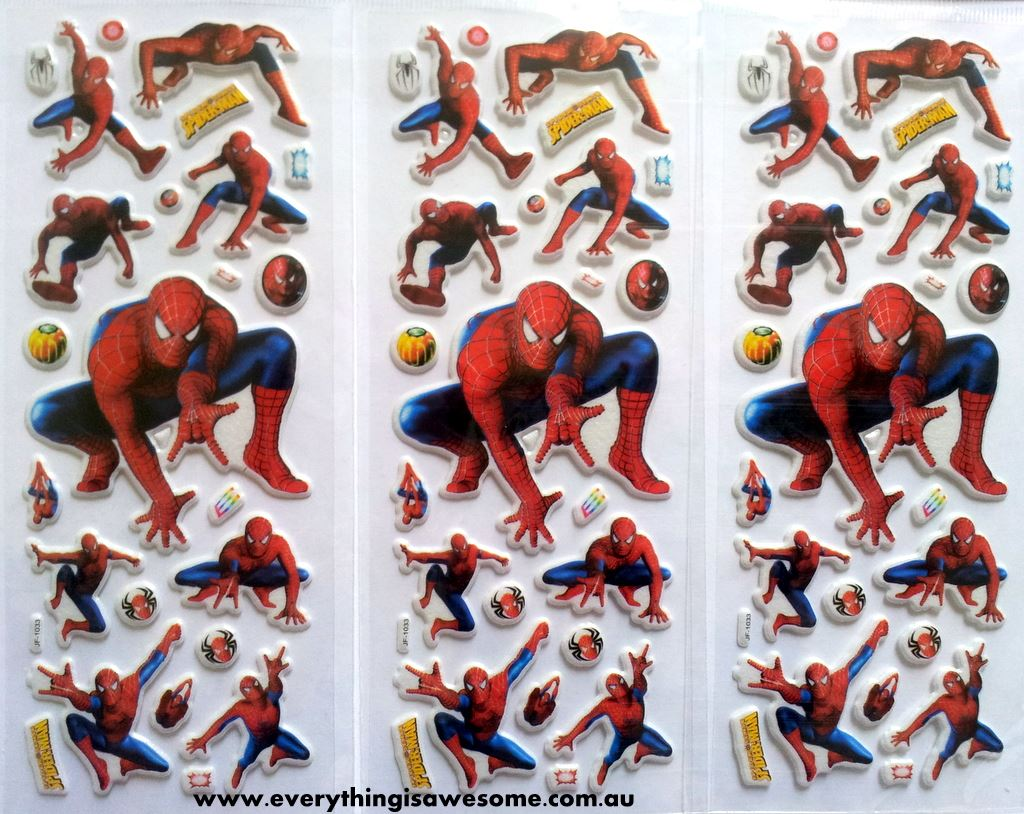 Everything Is Awesome Mixed Design New Spiderman Puffy
