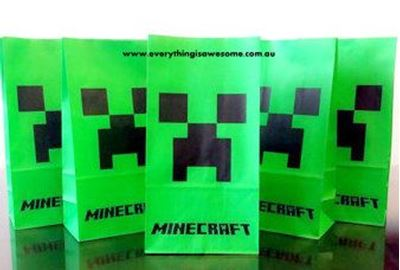 Picture of New 10 pcs Minecraft Lolly / Loot / Popcorn Party Bags