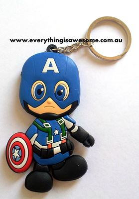 Picture of New Captain America Keyring Keychain
