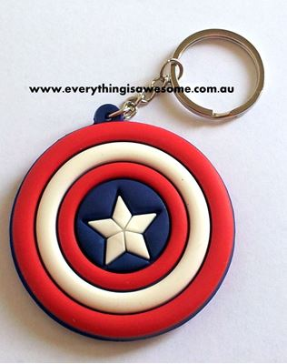 Picture of New Captain America Shield Keyring Keychain