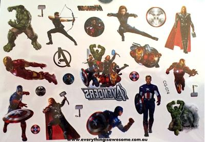 Picture of Avengers Temporary CG074 Tattoo