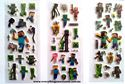 Picture of Set of 10 Sheets Minecraft Puffy Sticker Design B