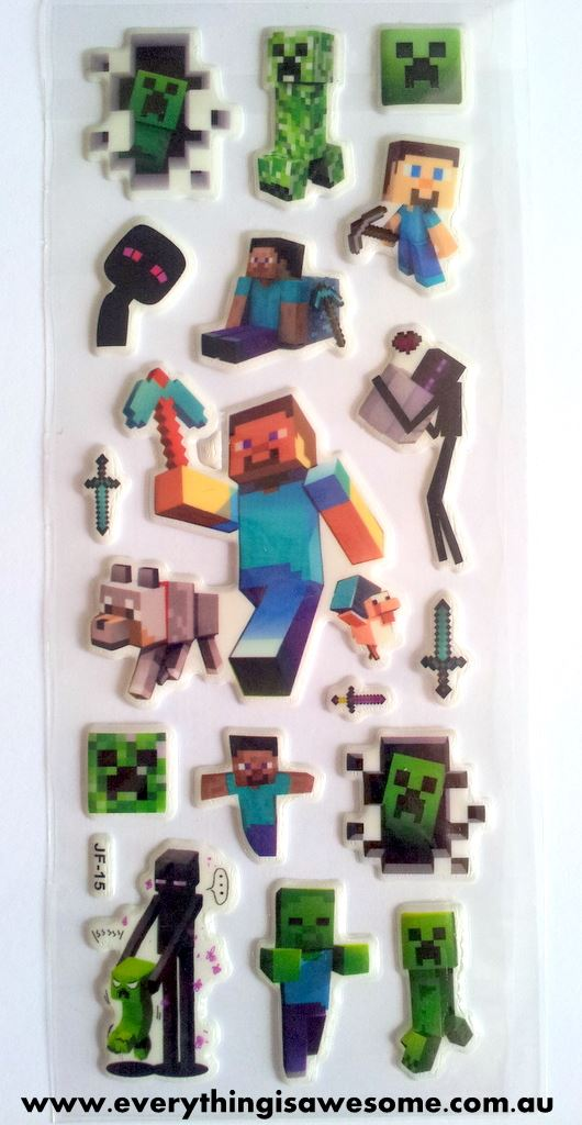 Everything Is Awesome Set Of 10 Sheets Minecraft Puffy