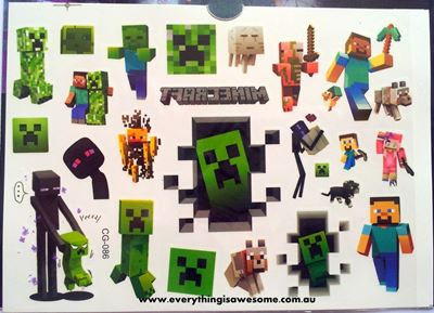 Picture of Minecraft Temporary Tattoo - 5 Sheet
