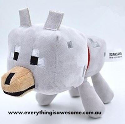 Picture of New Minecraft Plush Wolf