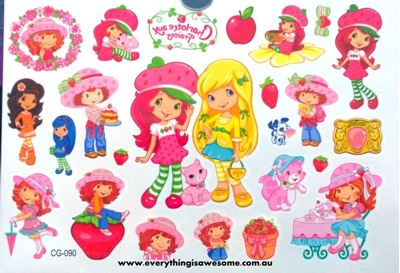 Picture of Strawberry Shortcake Temporary Tattoo