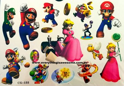 Picture of Super Mario Bros Temporary Tattoo