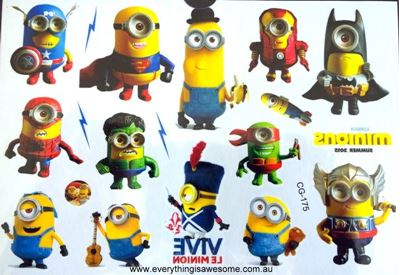 Picture of Despicable Me Superhero Temporary Tattoo