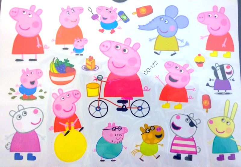 Everything is awesome peppa pig temporary tattoo cg 172 for Peppa pig tattoo