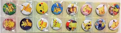 Picture of Pokemon Button Pins Badges Set of 16