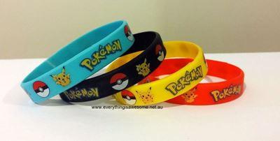 Picture of 5 pcs Pokemon Pikachu Wristbands Bracelets
