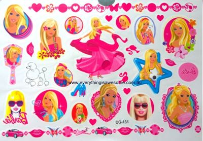 Picture of Barbie CG-131 Temporary Tattoo