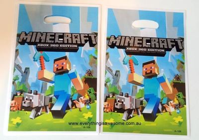 Picture of New 10 pcs Minecraft Lolly / Loot / Plastic Party Bags Design B