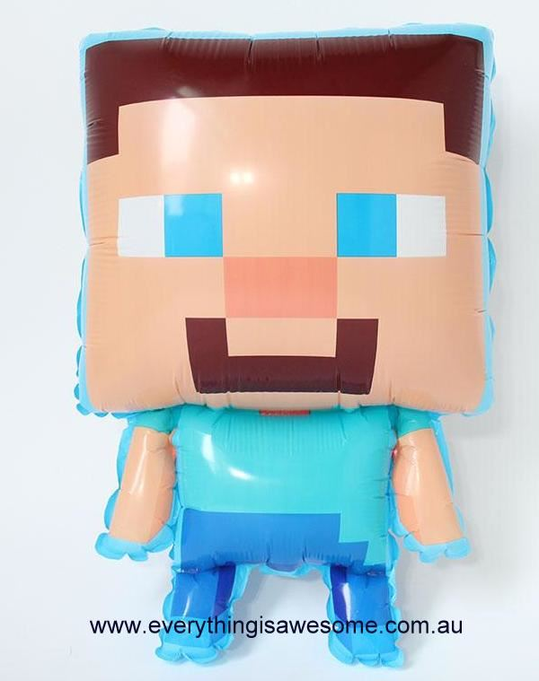 Picture Of New 1 Pcs Minecraft Steve Balloon
