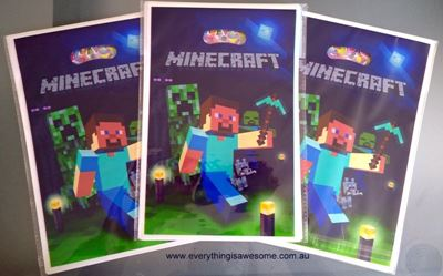 Picture of New 10 pcs Minecraft Lolly / Loot / Plastic Party Bags Design A