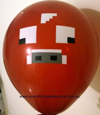 Picture of New 10 pcs Minecraft Cow Brown Balloons
