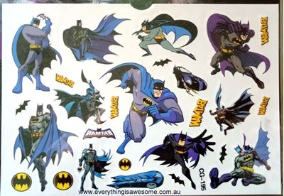 Picture of Batman  CG-195 Kids Temporary Tattoo
