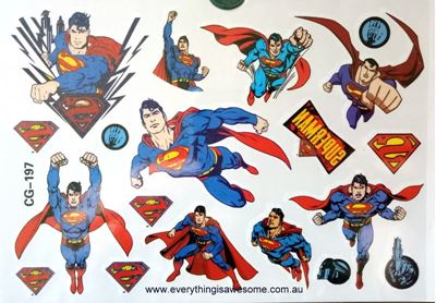 Picture of Superman CG-197 Temporary Tattoo