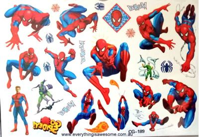 Picture of Spiderman CG-189 Temporary Tattoo