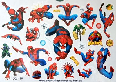 Picture of  Spiderman CG-188 Temporary Tattoo