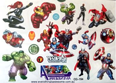Picture of Avengers CG-194 Temporary Tattoo