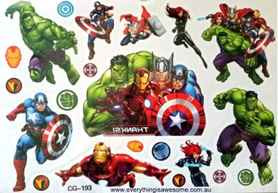 Picture of Avengers CG-193 Temporary Tattoo