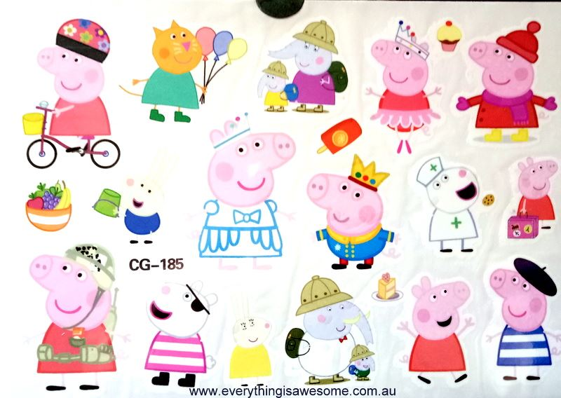 Everything is awesome peppa pig cg 185 temporary tattoo for Peppa pig tattoo