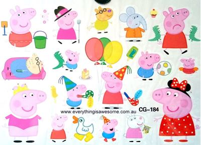Picture of Peppa Pig CG-184 Temporary Tattoo