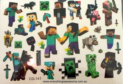 Picture of Minecraft Temporary Tattoo CG-141 - 1 Sheet