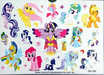 Picture of My Little Pony CG-183 Temporary Tattoo