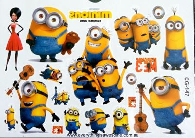 Picture of Despicable Me CG-147 Temporary Tattoo