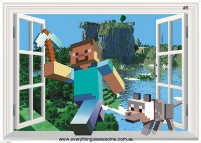 Picture of New Minecraft Wall Decal Sticker # 6