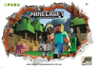 Picture of New Minecraft Wall Decal Sticker # 7
