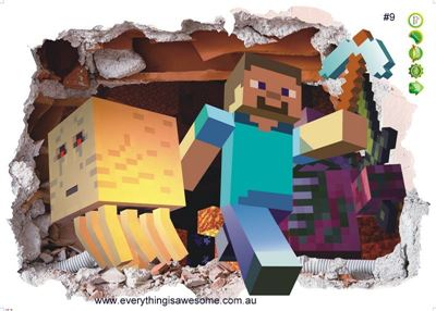 Picture of New Minecraft Wall Decal Sticker # 9