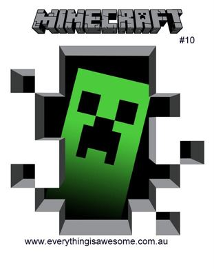 Picture of New Minecraft Wall Decal Sticker # 10