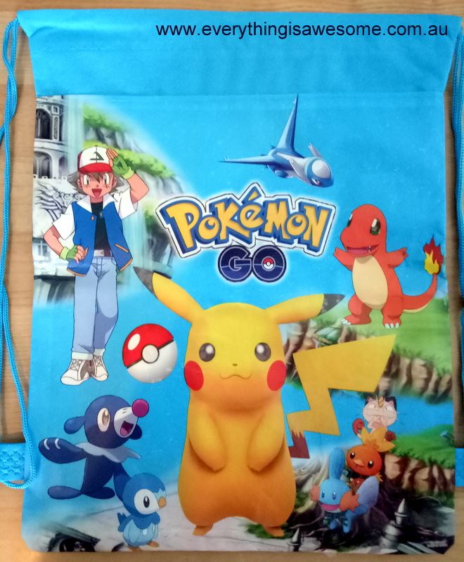 4fce03b69c07 Everything is Awesome. New Pokemon Library Swimming Drawstring Bag